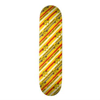 Little Miss Sunshine | Red, Yellow Stripes Pattern Custom Skate Board