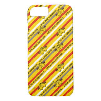 Little Miss Sunshine | Red, Yellow Stripes Pattern iPhone 8/7 Case