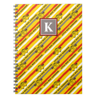 Little Miss Sunshine | Red, Yellow Stripes Pattern Notebooks