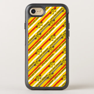 Little Miss Sunshine | Red, Yellow Stripes Pattern OtterBox Symmetry iPhone 8/7 Case