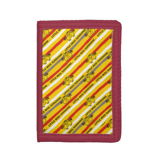 Little Miss Sunshine | Red, Yellow Stripes Pattern Tri-fold Wallets