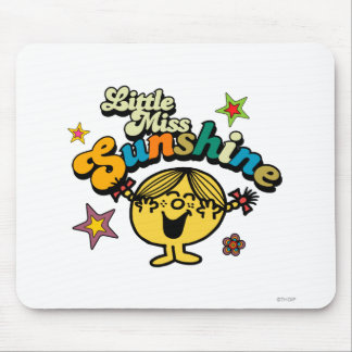 Little Miss Sunshine | Stars & Flowers Mouse Pad