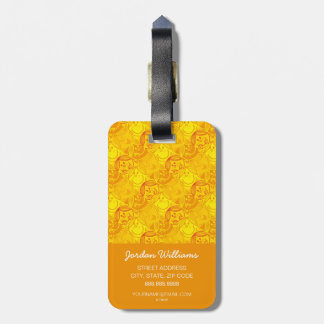 Little Miss Sunshine | Sunny Yellow Pattern Luggage Tag