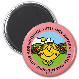 Little Miss Sunshine | Sunshine Circle Magnet