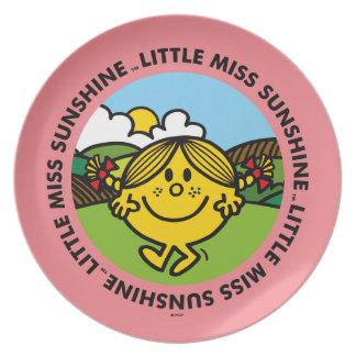 Little Miss Sunshine   Sunshine Circle Plate