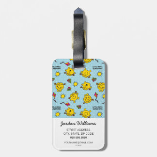 Little Miss Sunshine | Teal Polka Dot Pattern Bag Tag