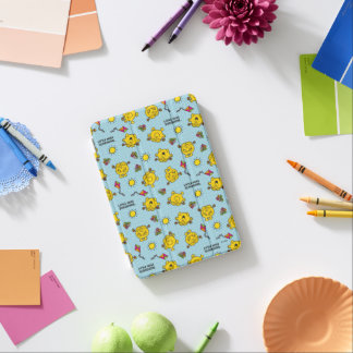 Little Miss Sunshine   Teal Polka Dot Pattern iPad Mini Cover