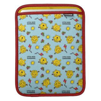 Little Miss Sunshine | Teal Polka Dot Pattern iPad Sleeve
