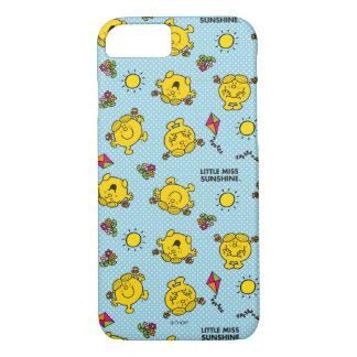 Little Miss Sunshine | Teal Polka Dot Pattern iPhone 8/7 Case