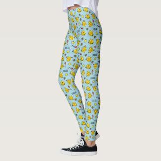 Little Miss Sunshine | Teal Polka Dot Pattern Leggings