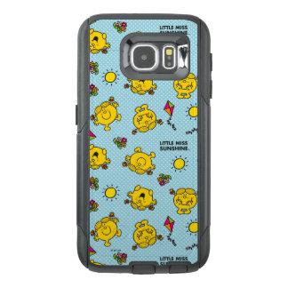 Little Miss Sunshine | Teal Polka Dot Pattern OtterBox Samsung Galaxy S6 Case