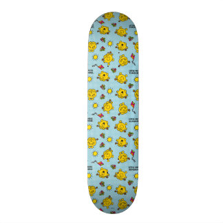 Little Miss Sunshine | Teal Polka Dot Pattern Skateboard