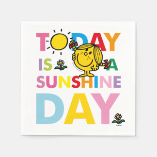 Little Miss Sunshine | Today is a Sunshine Day Paper Napkin