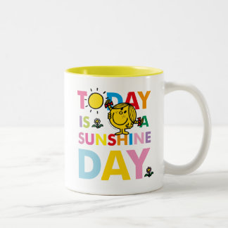 Little Miss Sunshine | Today is a Sunshine Day Two-Tone Coffee Mug