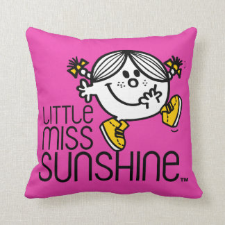 Little Miss Sunshine Walking On Name Graphic Cushion