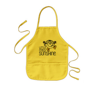 Little Miss Sunshine Walking On Name Graphic Kids Apron
