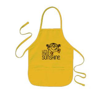Little Miss Sunshine Walking On Name Graphic Kids Apron