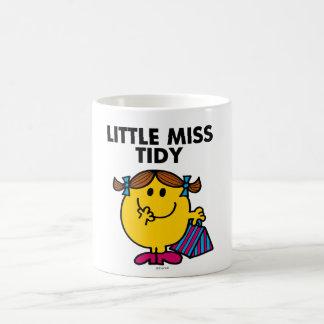 Little Miss Tidy   Black Lettering Basic White Mug