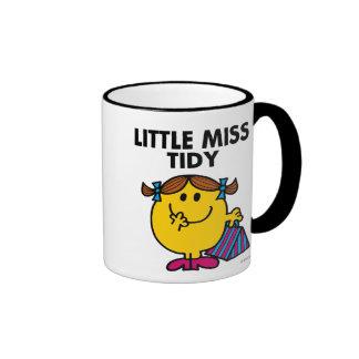 Little Miss Tidy | Black Lettering Ringer Mug