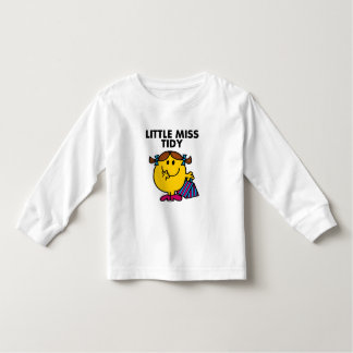 Little Miss Tidy | Black Lettering Toddler T-Shirt
