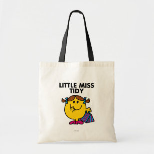 Little Miss Tidy | Black Lettering Tote Bag
