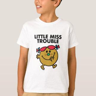 Little Miss Trouble   Black Lettering T-Shirt