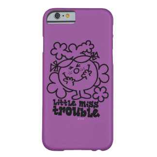 Little Miss Trouble | Black & White Barely There iPhone 6 Case