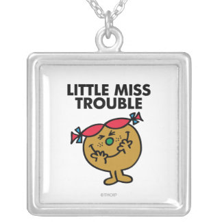 Little Miss Trouble | Laughing Silver Plated Necklace