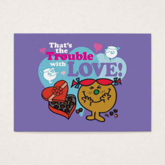 Little Miss Trouble | Valentine Business Card