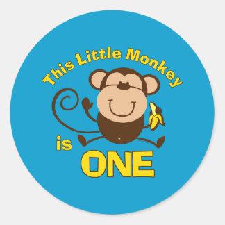 Little Monkey 1st Birthday Boy Sticker