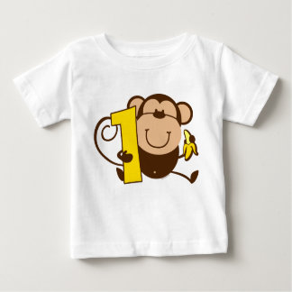 Little Monkey 1st Birthday Mero Baby T-Shirt