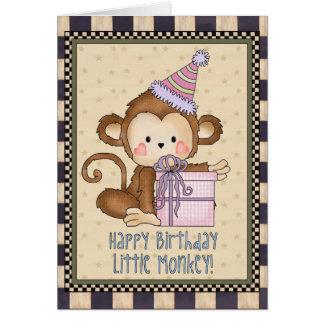 Little Monkey Birthday greeting card
