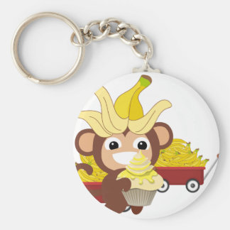 Little Monkey Collection 125 Basic Round Button Key Ring