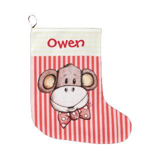 Little Monkey Cute Christmas Stocking