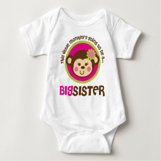 Little Monkey Going To Be A Big Sister Baby Bodysuit