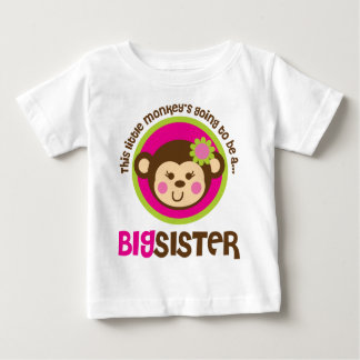 Little Monkey Going To Be A Big Sister Baby T-Shirt