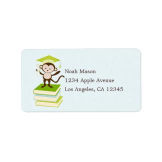 Little Monkey - Green Address Label