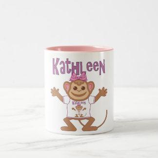 Little Monkey Kathleen Two-Tone Coffee Mug