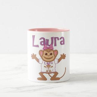 Little Monkey Laura Two-Tone Mug
