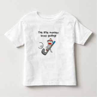 Little Monkey Loves Golfing Toddler T-Shirt
