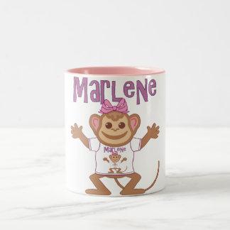 Little Monkey Marlene Two-Tone Coffee Mug