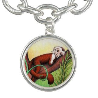 Little Monkey Silver Charm Bracelet