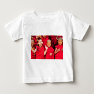 Little Monks in Red Robes Baby T-Shirt