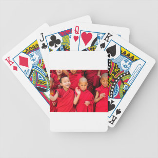 Little Monks in Red Robes Bicycle Playing Cards
