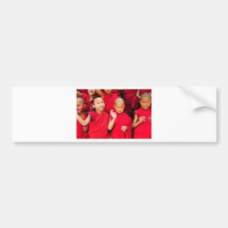 Little Monks in Red Robes Bumper Sticker