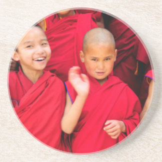 Little Monks in Red Robes Coaster