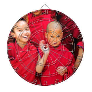 Little Monks in Red Robes Dartboard