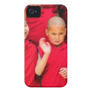 Little Monks in Red Robes iPhone 4 Cover