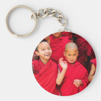 Little Monks in Red Robes Key Ring