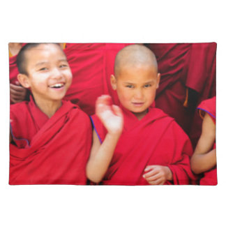 Little Monks in Red Robes Placemat